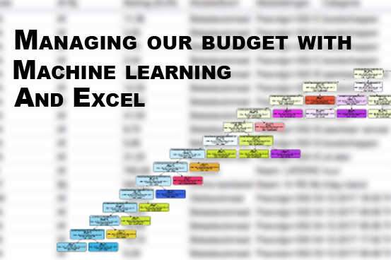 managing our budget with excel and machine learning pinch of